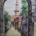 14. CHAND MINAR VIEW IN STONE GATE