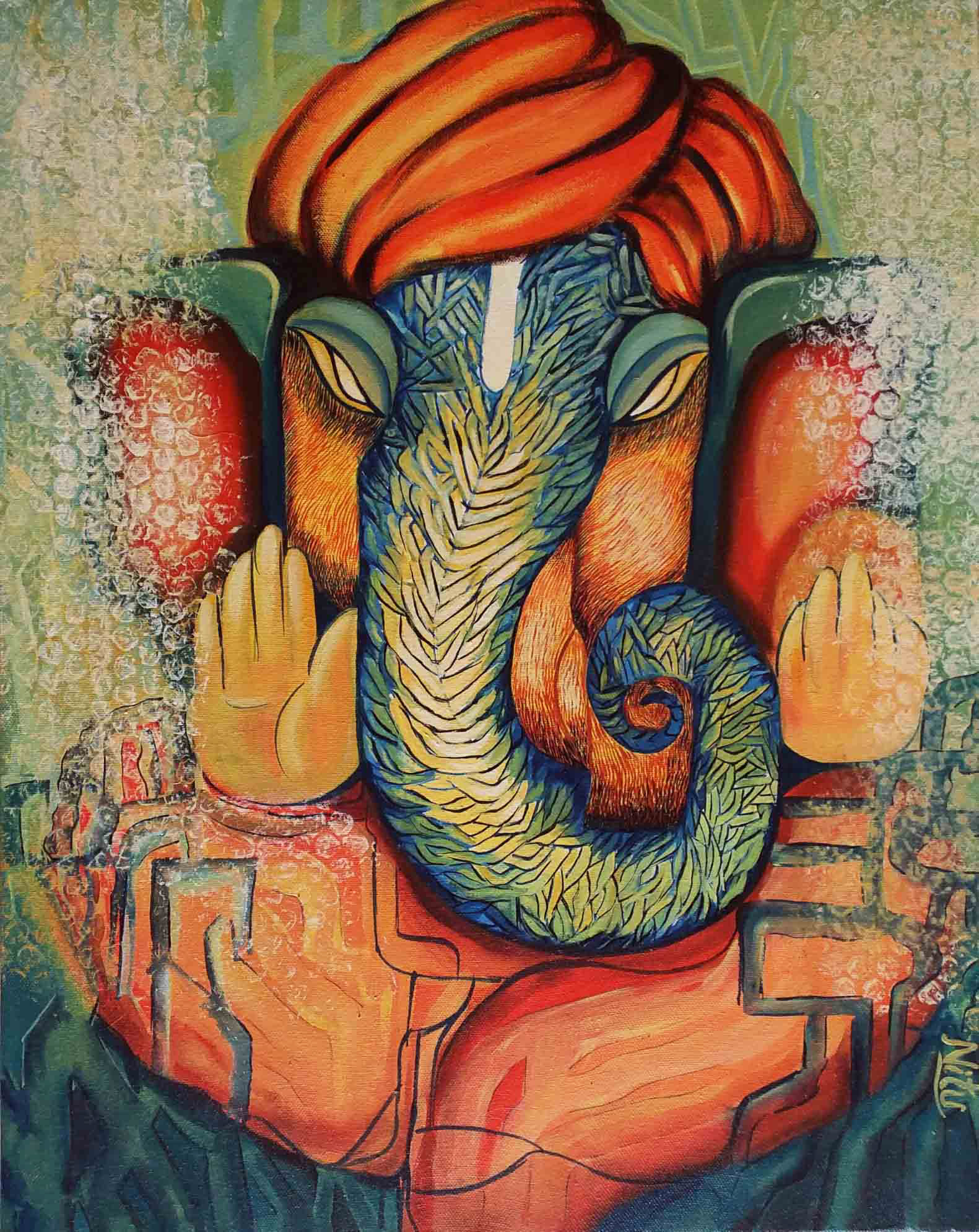 GANESHA: A contemporary painting depicting mystical aura ...