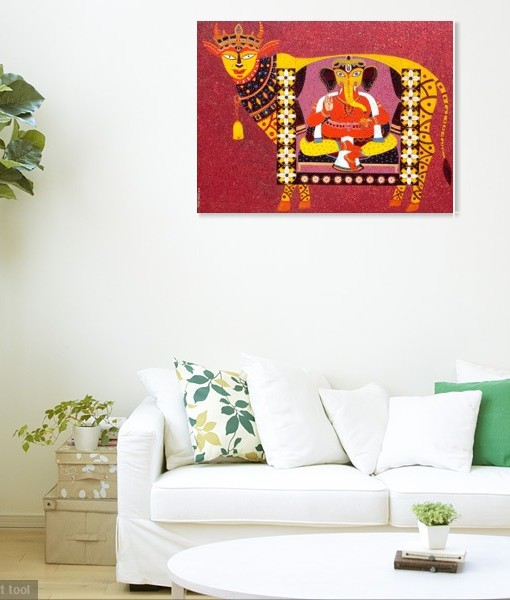 Golden-cow-kamdhenu WALL VIEW 2