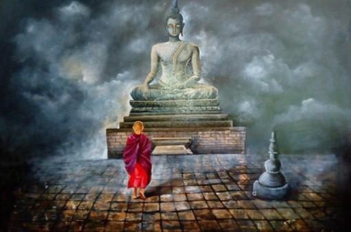 2. BUDDHA AND MONK