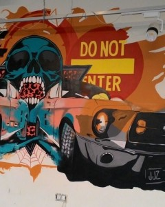 CAR SKULL GRAFFITI