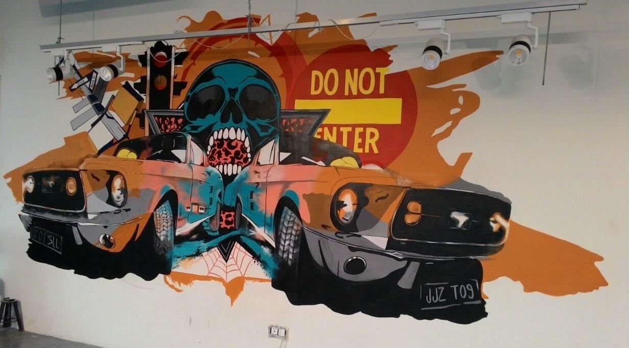 Car skull graffiti prev