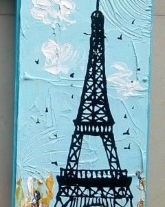 MDF HAND PAINTED MULTICOLOR ABSTRACT EIFFEL TOWER BOX (Main View)