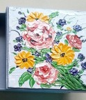 MDF HAND PAINTED MULTICOLOR ABSTRACT FLOWER BOX (Side View)
