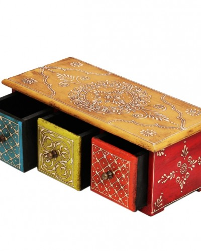 HORIZONTAL EMBOSSED WOODEN BOX