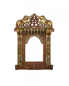 13. DOUBLE ELEPHANT WOODEN SINGLE WINDOW JHAROKHA