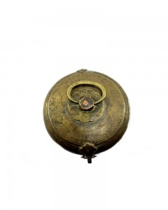 1850s-Indian-Antique-Brass-Round-Chapatti-Bread-Box-In-Original-Condition.jpg--a