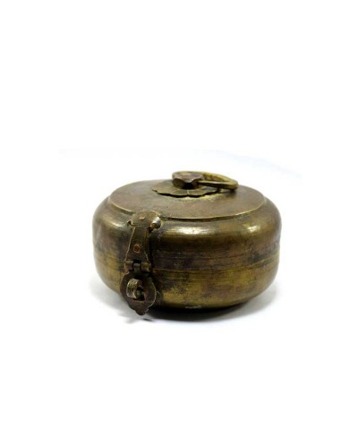 1850s-Indian-Antique-Brass-Round-Chapatti-Bread-Box-In-Original-Condition.jpg--c