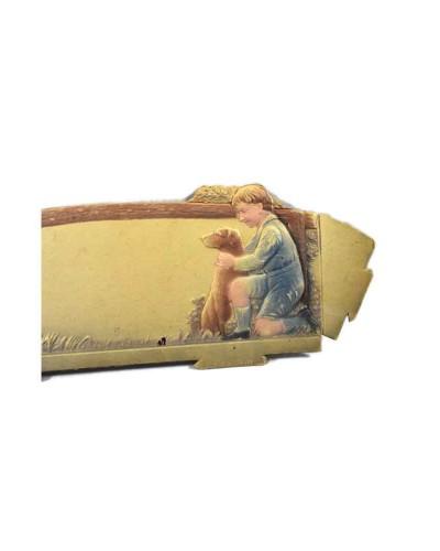 Antique-Decorative-Collectible-Fine-Lithograph-German-Print-Village----b