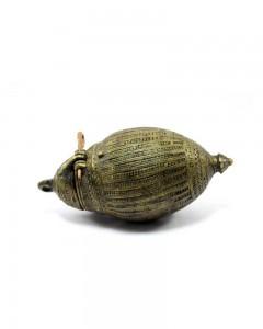 Antique-Hand-Crafted-Big-Egg-Shape-Unique-Style-Betel-Lime-Paste-Box