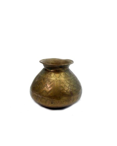Antique-Indian-Beautiful-Hand-Carved-Usable-Water-Brass-Pot