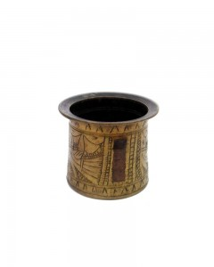 Antique-Very-Rare-Old-Hand-Crafted-Engraved-Brass-Pooja-Holy-Water-Pot
