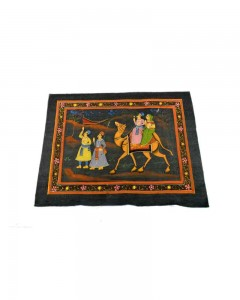 Beautiful-Decorative-Great-Handmade-Camel-Riding-Fine-Cloth-Painting