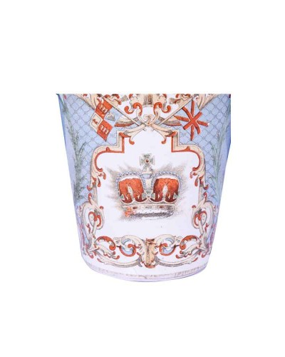 Extreme-Rare-British-Enamel-Glass-With-Dated-Queen-Photos-&-Monogram-----e