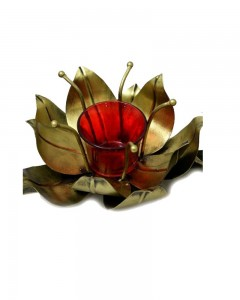 IRON GOLD THREE CANDLE STAND_b