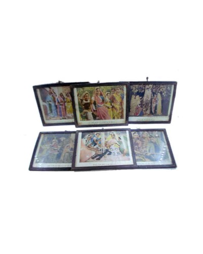 Lot-Of-6-Old-Very-Nice-Beautiful-Decorative-Prints