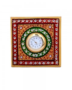 MARBLE 4X4 INCHES SQUARE WATCH