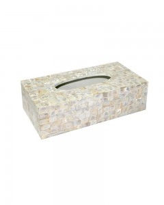 MOTHER OF PEARL NAPKIN BOX