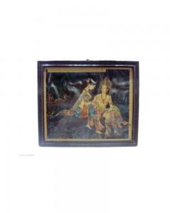Old-Original-Print-With-Epic-Scene-Of-Shakuntala-And-Dushyanta-In-Tapovana