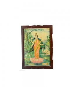 Vintage-Collectible-Rare-Beautiful-Decorative-Indian-Goddess-Laxmi-Print