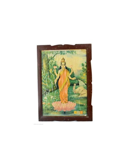 Vintage-Collectible-Rare-Beautiful-Decorative-Indian-Goddess-Laxmi-Print