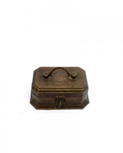 Vintage-Gold-Smith-Brass-Box-With-Multi-Pockets-Good-Patina-&-Condition