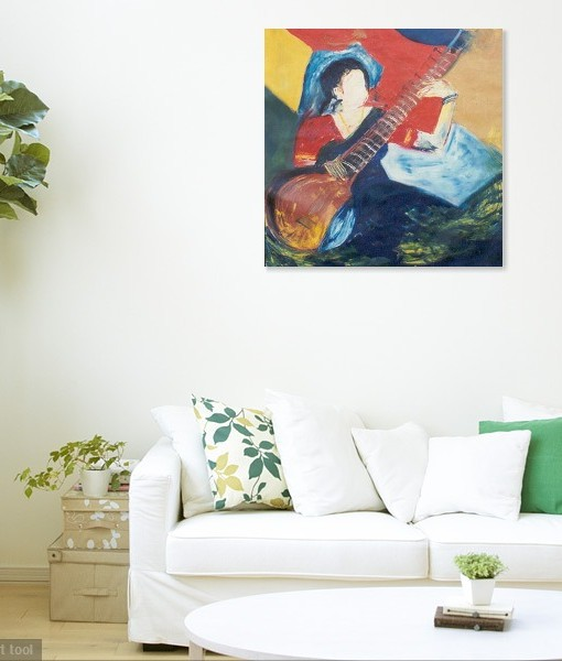 SITAR-PLAYING WALL VIEW 2