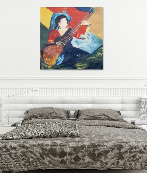 SITAR-PLAYING WALL VIEW 3