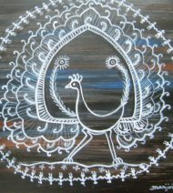 WARLI PAINTING ON YUPO PAPER