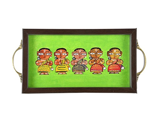 GREEN FIVE LADY TRAY (1)