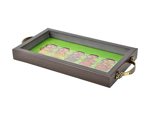 GREEN FIVE LADY TRAY (2)