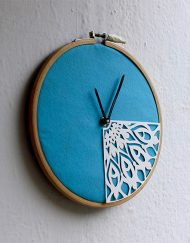 BLUE PAPER CUT CLOCK (2)