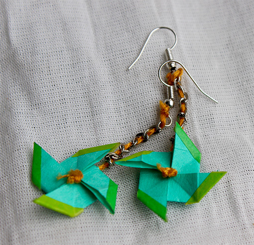 Origami Fan Earrings Artvault