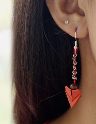 ORIGAMI HEART EARRINGS (2)