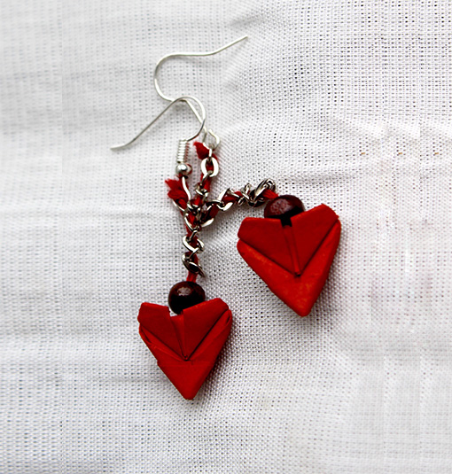 ORIGAMI HEART EARRINGS - ArtVault - photo#42