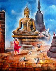 33. BUDDHA AND MONK CHILD 4
