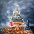 34. BUDDHA AND MONK CHILD 5