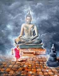 34. BUDDHA AND MONK CHILD 5