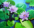MAUVE WATERLILIES