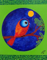 NIGHT BIRD 12_ X 10_.