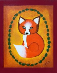 VINTAGE BABY FOX 12_ X 10_