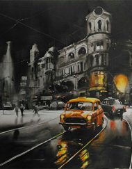 KOLKATA CITY SCAPE - NIGHT STREET