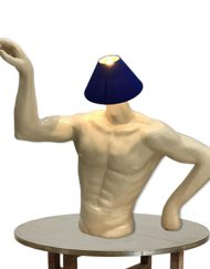 HALF UPPER MEN BODY LAMP SHADE