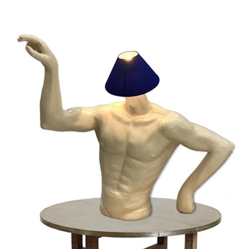 HALF UPPER MEN BODY LAMP SHADE