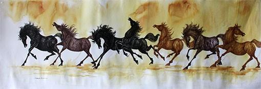 GALLOPING HORSES 60