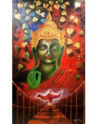 BUDDHA AND MONK 07