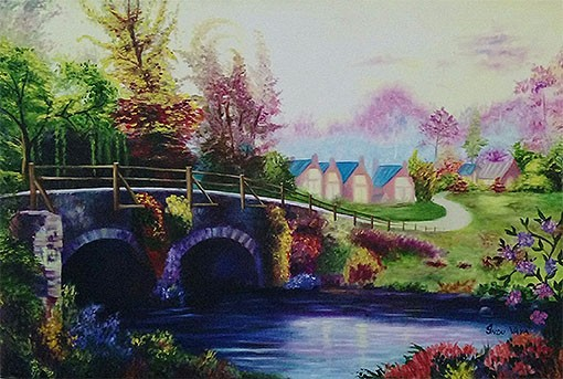 BRIDGE CANAL SCENERY