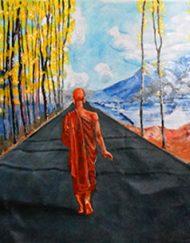 WALKING MONK
