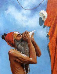 WORSHIPING SADHU