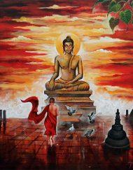 BUDDHA AND MONK CHILD 8